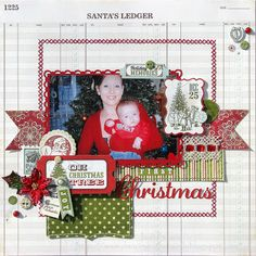 'christmas'  LOVE THE LAYERING!  dancing in the rain: My Creative Scrapbook December Reveal