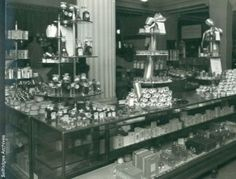 An archival shot of beauty hall in the London department store Selfridge's. Go back in time to see how the famous store has changed with these historic photos. Vintage London, Old London, Vintage Shops, London History, British History, Old Pictures, Old Photos, Mr Selfridge, Famous Store