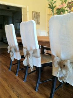 No Sew Slipcover For Dining Room Chairsim Thinking After Prepossessing Slipcovers For Dining Room Chair Seats Decorating Inspiration