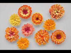 Cómo hacer flores de papel. Quilling. Embellecedores scrapbook. - YouTube