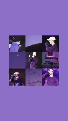 Bear Wallpaper, Purple Wallpaper, Colorful Wallpaper, Aesthetic Iphone Wallpaper, Aesthetic Wallpapers, Sehun Cute, We Bare Bears Wallpapers, Exo Album, Exo Lockscreen