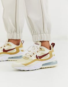 Nike Women's Air Max 270 React Beige & White 【AT6174 700】 Foot District