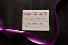Hot Pink Wedding Save the Date, #letterpress