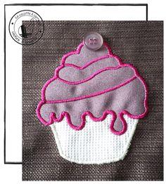 cupcake  appliqué, la cocotte à carreaux
