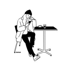 Illustration Tumblr, Korean Illustration, Minimal Drawings, Easy Drawings, Black And White Comics, Minimalist Drawing, Ligne Claire, Cute Cartoon Wallpapers, Character Drawing