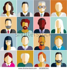 People icons. People Flat icons collection - stock vector