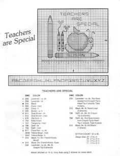 Cross Stitch Mania: Free Teacher are Special Cross Stitch Chart