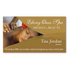 Beauté Salon Day Spa Massage Therapy Aromatherapy Business Card Templates created by StylishBusinessCards. This design is available on several paper types and is totally customizable. Massage Therapy Business Cards, Massage Business, Spa Business Cards, Beauty Hacks Eyelashes, Spa Massage, Spa Day, Card Templates, Aromatherapy, Salons