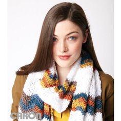 Chevron Stripes Crochet Scarf free crochet pattern