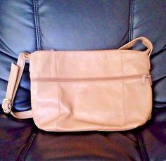 Etra-Vintage-Leather-Large-Handbag-Beige-Tan-Khaki-14-034-in-Length