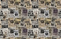 The Daily Prophet fabric by implexity on Spoonflower - custom fabric