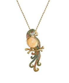 Artistry Parrot necklace in gold and diamonds
