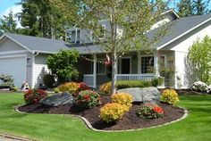 Front yard landscaping designs, DIY ideas, photo gallery and 3D design software tools. / over by the boys rooms