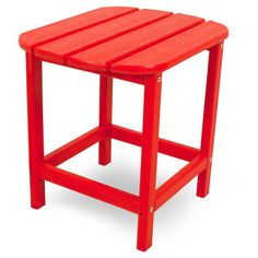 Polywood South Beach Patio Side Table - Red
