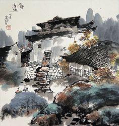 China Village Chinese Painting.