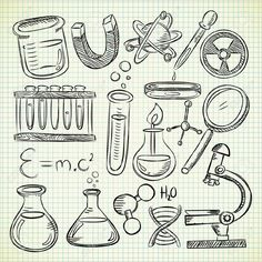 15058775-Set-of-science-stuff-in-doodle-style-Stock-Vector-science-chemistry-lab.jpg (1300×1300)
