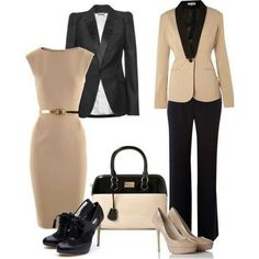 Business Outfit Damen Beige Schwarz From work dresses and skirts to jackets and pants, you could fin Business Outfit Damen, Business Outfits, Office Outfits, Business Fashion, Office Attire, Business Clothes, Office Wear, Office Heels, Corporate Outfits