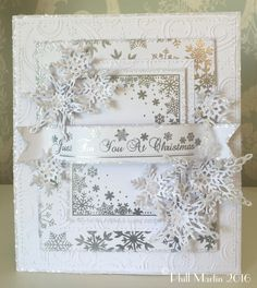Phills' Crafty Place: New Look Blog and a Silver on White Snowflake Card...