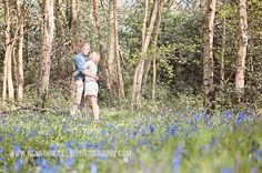 Hannah McClune Photography photo shoot in the bluebells
