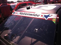 If you haven't noticed all NNS teams are supporting the military with these windshield decals on thru Daytona ‪