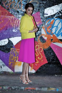 Womens' Shoot S/S '14: Street Style/ Colour Block #bright #colourblocking #streetstyle #summer #grafitti #fashion #styling