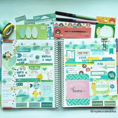 A week in my Erin Condren Life Planner. Now working on my pages next week. I…