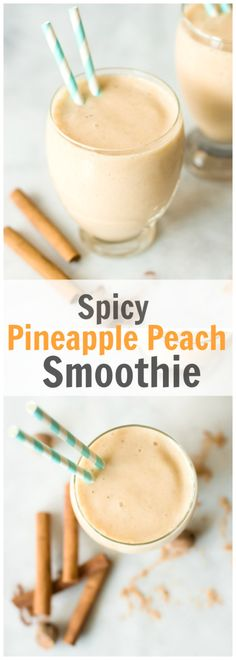 Spicy Pineapple Peach Smoothie