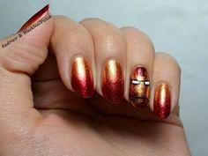 Iron Man nail art.