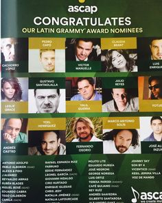 Many thanks to ASCAP for including me in the Latin Grammy magazine among other Latin Grammy Nominated Artists. It's an honor to be in such a great company!