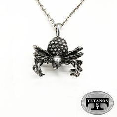 Aranea, handmade pendant for women or man. Sterling silver 925. SPIDER JEWEL www.tetanosart.com Spider, Jewels, Rock, Sterling Silver, Diamond, Pendant, Handmade, Women, Spiders