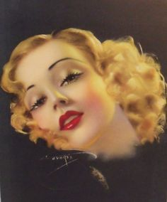 Hey, I found this really awesome Etsy listing at http://www.etsy.com/listing/171356972/vintage-color-glamour-girl-lithograph