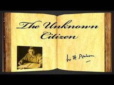 julie yandell yandellapclass the unknown citizen a poem by w h auden about the poet wystan hugh auden was an anglo american poet born in england later an