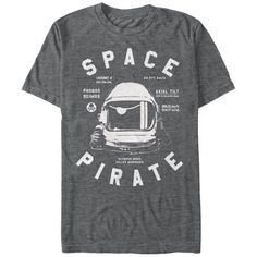 Lost Gods Space Pirate Astronaut Mens Graphic T Shirt, Men's, Size: Large, Black