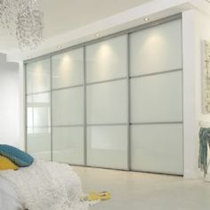Linear sliding wardrobe doors #wardrobes #closet #armoire storage, hardware, accessories for wardrobes, dressing room, vanity, wardrobe design, sliding doors, walk-in wardrobes.