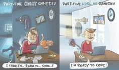 BTG | Part-time game development and life balance Time Games, Part Time, Im Ready, Family Guy, Coding, Life, Fictional Characters, Fantasy Characters, Programming