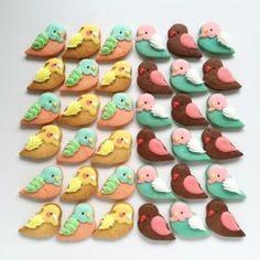 birds Butterfly Cookies, Bird Cookies, Crazy Cookies, Drop Cookies, Cut Out Cookies, Cute Cookies, Cupcake Cookies, Sugar Cookies, Cupcakes