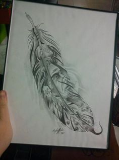 best ideas for tattoo feather sketch native american Native American Tattoos, Native Tattoos, Wolf Tattoos, Native American Art, Feather Sketch, Feather Art, Tattoo Feather, Indian Feather Tattoos, Feather Design
