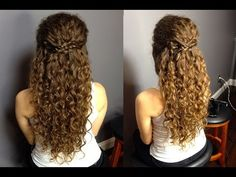 Half up Half Down Updo For Naturally Curly Hair: Super Easy Bohemian and Braided Hairstyle!