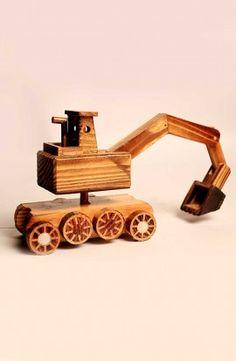 Wooden Power-Crane Toy