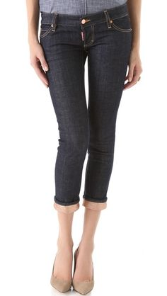 DSQUARED2 Pat Jeans with Rose Gold Trim