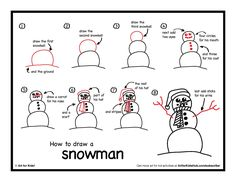 how to draw a snowman art for kids hub - Printable Art For Kids