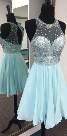 Sexy Beading Homecoming Dresses,Short Prom Dresses,Cheap Homecoming Dresses,
