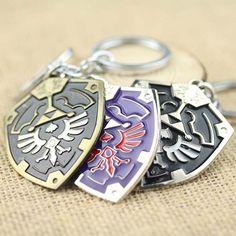 The Legend Of Zelda Metal Shield Logo Keychain