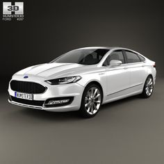 Ford Mondeo (Fusion) Vignale 2015 3d model from Humster3D.com.