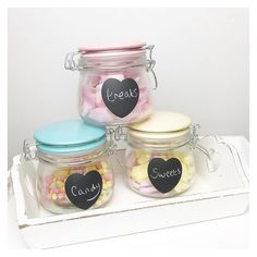 These pretty pastel storage jars have just been added to the summer sale only 9.80 for the set of 3! pennyrosehomegifts.co.uk