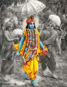 He still walks like this.. in India! Come and see.. Krishna happening..