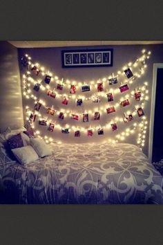 25 ιδέες για να στολίσετε το υπνοδωμάτιο σας με χριστουγεννιάτικα λαμπάκια!