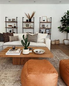 Cool, neutral vibes in this modern living room. What's Decoration? Decoration may be the art of decorating the interior … Mid Century Modern Living Room, Living Room Modern, Home And Living, Living Room Designs, Modern Minimalist Living Room, Minimal Living Rooms, Contemporary Living Room Decor Ideas, Casual Living Rooms, Living Room Styles