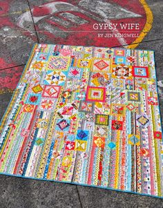Adding this pattern to my wish list.  How cool is this explosion of color?? Gypsy Wife Pattern Book by Jen Kingwell Designs