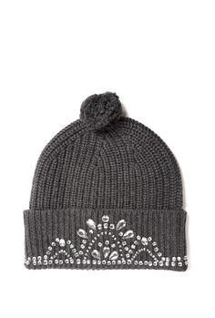 a47a7ccf1f1 Charcoal Knitted Tiarra Beanie by Markus Lupfer